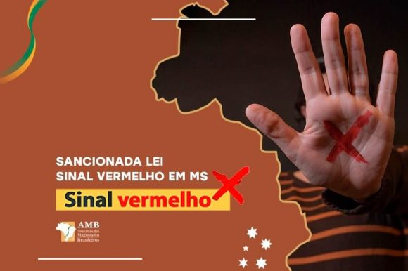 """""""X"""" na palma da mão: Sinal Vermelho é Lei em Mato Grosso do Sul"""
