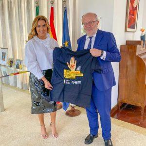 AMB e embaixador da Espanha tratam da internacionalização da campanha